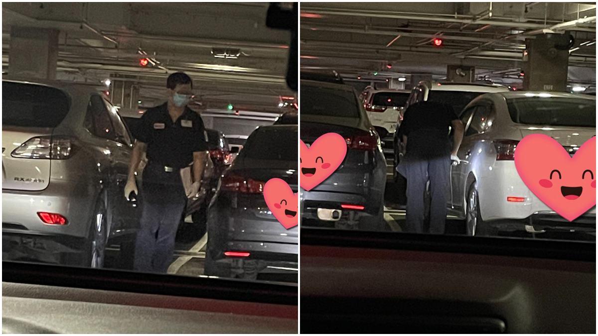 好市多「隱藏版服務」!停車場驚見黑衣人彎腰巡視,網友讚爆:太貼心