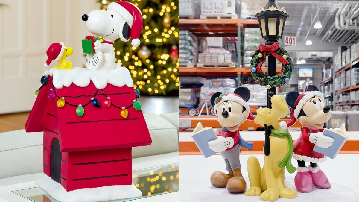 好市多4款耶誕裝飾必收!「史努比紅色小屋、米奇軌道列車」雪景+耶誕帽超Q
