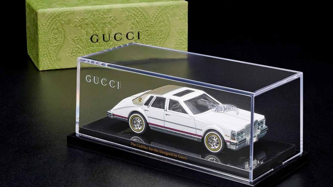 Gucci這次推出的汽車模型是他們在1982年與凱迪拉克合作的Seville特仕車款。(圖片來源/ Gucci) Gucci也推出汽車模型! 報價不到3,400元上市恐怕秒殺