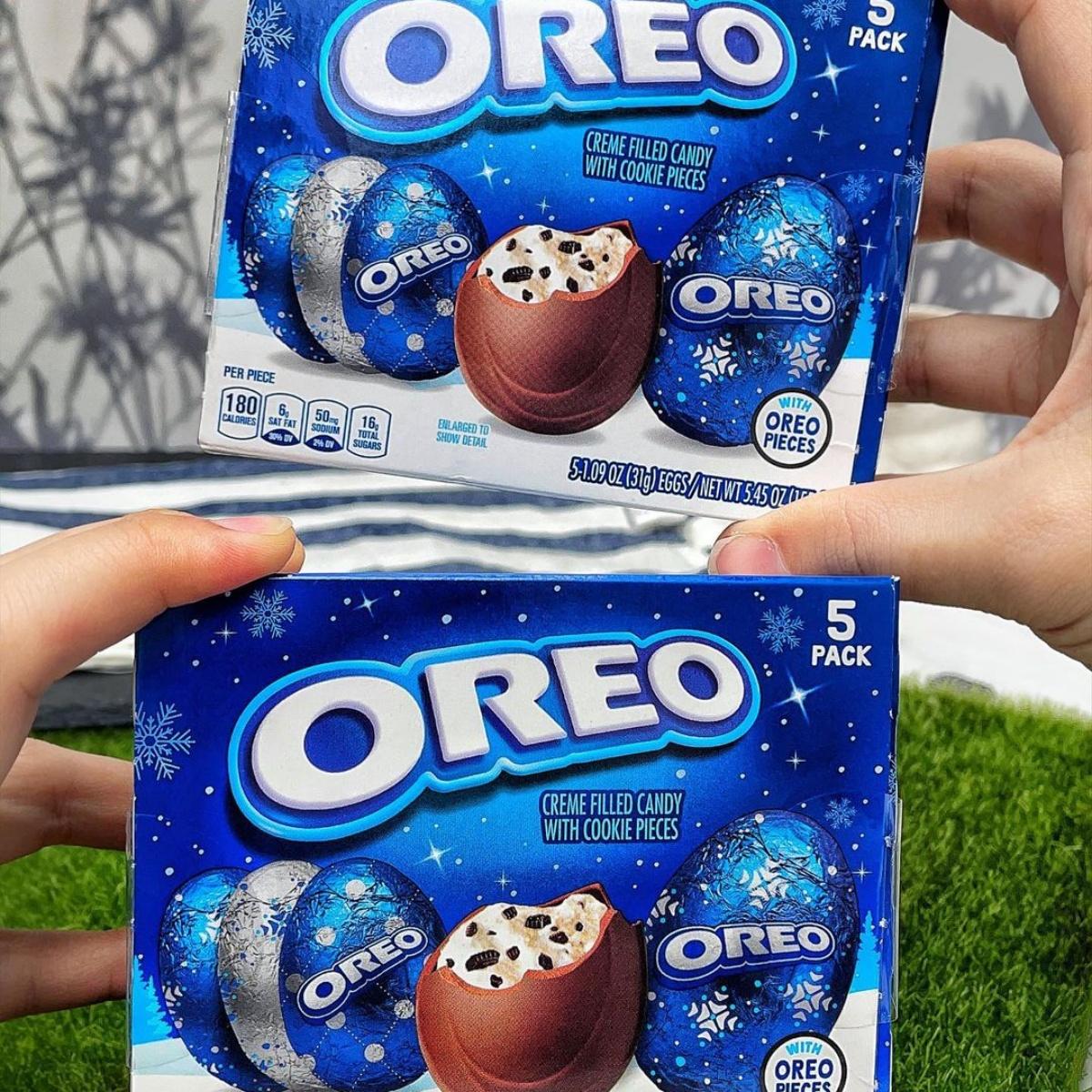 台灣也買得到!「OREO巧克力夾心蛋」香草餡+餅乾碎太邪惡,銀色雪花款必收