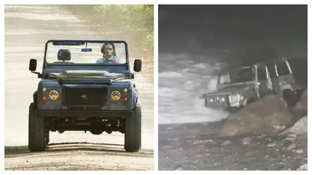一台M-Benz G-Class前往宜蘭南澳鄉的神祕沙灘海蝕洞沙灘,卻因圓規潭風來襲而受困沙灘「顧路」在那邊。(圖片來源/ Toyota、TVBS) 開車飆沙「刁車」好危險! 達人傳授沙地脫困小技巧