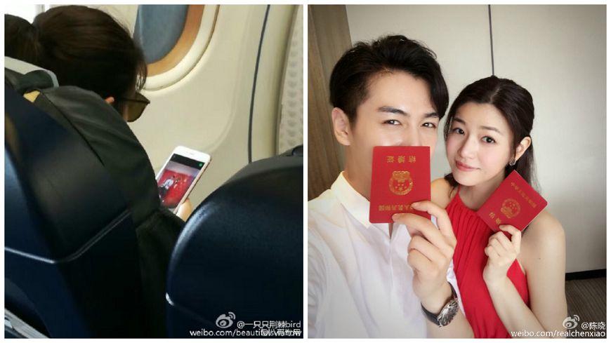 新婚照看不膩!人妻陳妍希返台 機上直盯手機