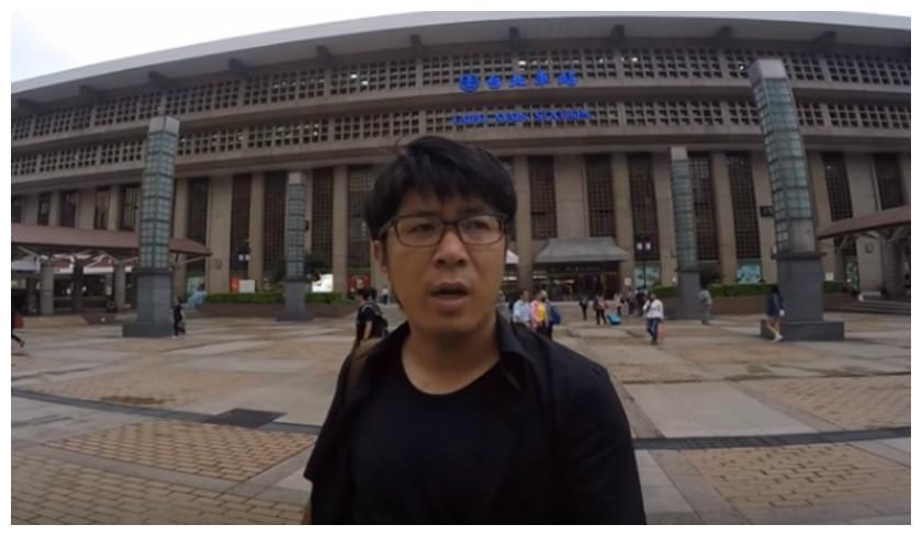 圖/擷取自《日本人的歐吉桑おじさん》Youtube 北車地板坐哪色?旅台日人實驗報你知