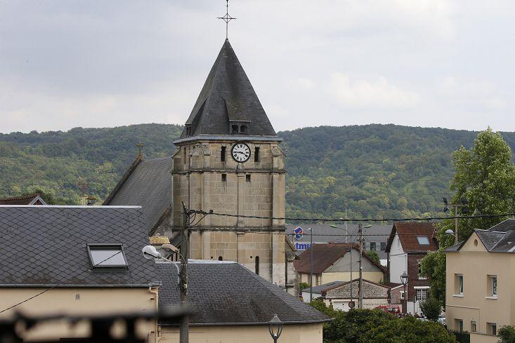 圖/達志影像路透社 FOCUS/法國又傳ISIL恐攻 天主教神父遭割喉