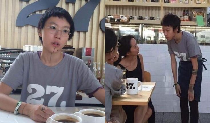 圖/取自微博 從下巴到胸骨 竇靖童紋身為妹妹李嫣