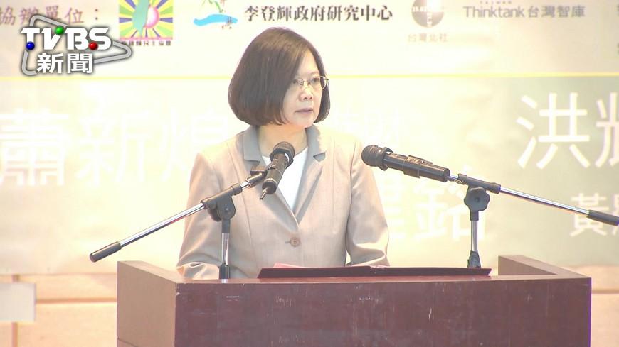 圖/TVBS 就職百日民調跌破5成! 總統:不害怕爭議