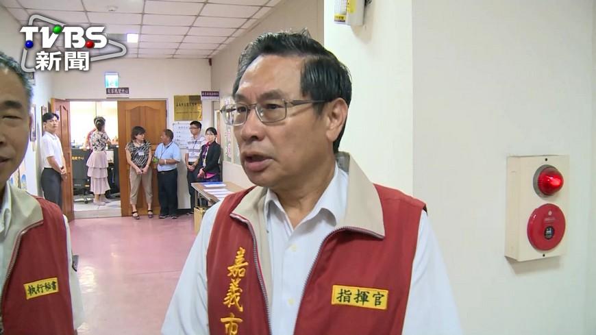 嘉義市長涂醒哲也表達歉意。圖/TVBS資料畫面 嘉市颱風天照辦市運 強風吹倒棚架割傷小六女童