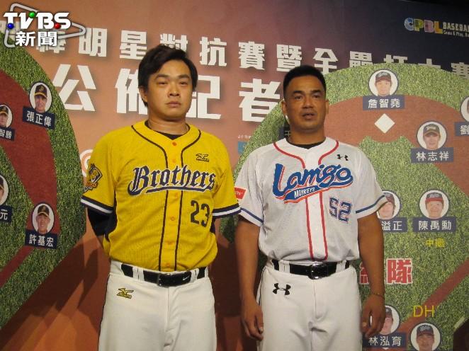 彭政閔(左)與陳金鋒是同期選手。資料照/記者蕭保祥攝 陳金鋒那些年的隊友/昔日菜鳥國手 只剩彭政閔、許銘傑