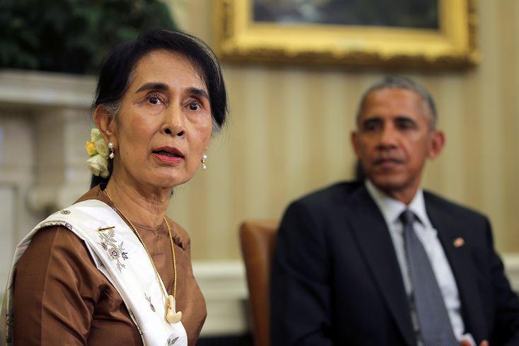 圖/達志影像路透社 翁山蘇姬訪美 盼美國解除對緬甸制裁