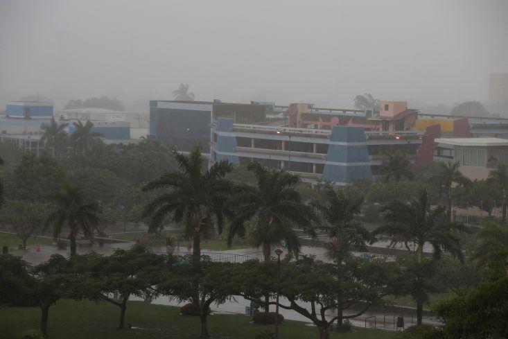 圖/達志影像路透社 馬修颶風撲牙買加 大西洋9年來最強風暴