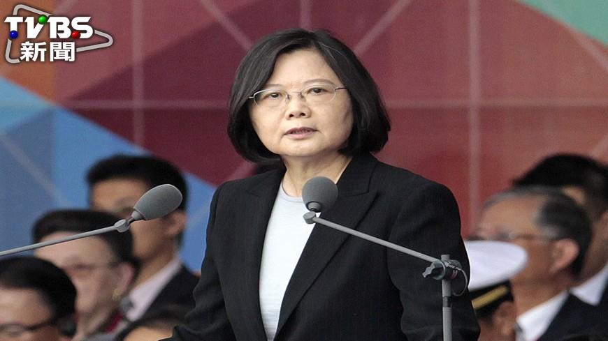 圖/TVBS資料畫面 民調:蔡總統執政37.6%滿意