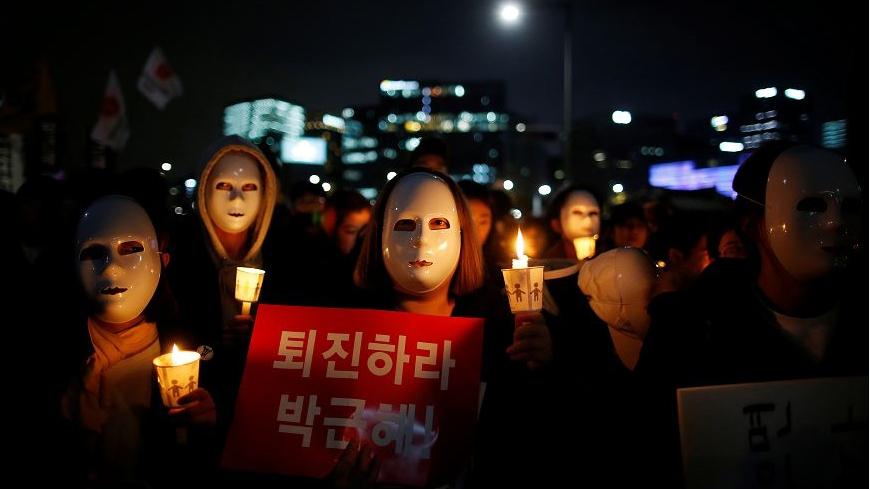圖/達志影像路透社 首爾百萬人上街抗議 激動要求朴槿惠下台