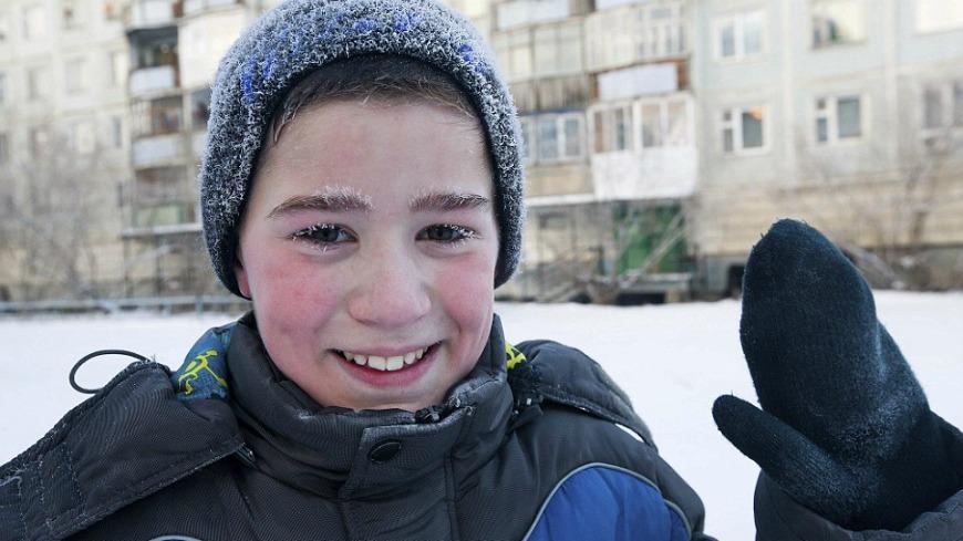 圖/DailyMail 睫毛全結冰! 戰鬥民族學童「零下53度」照樣上學