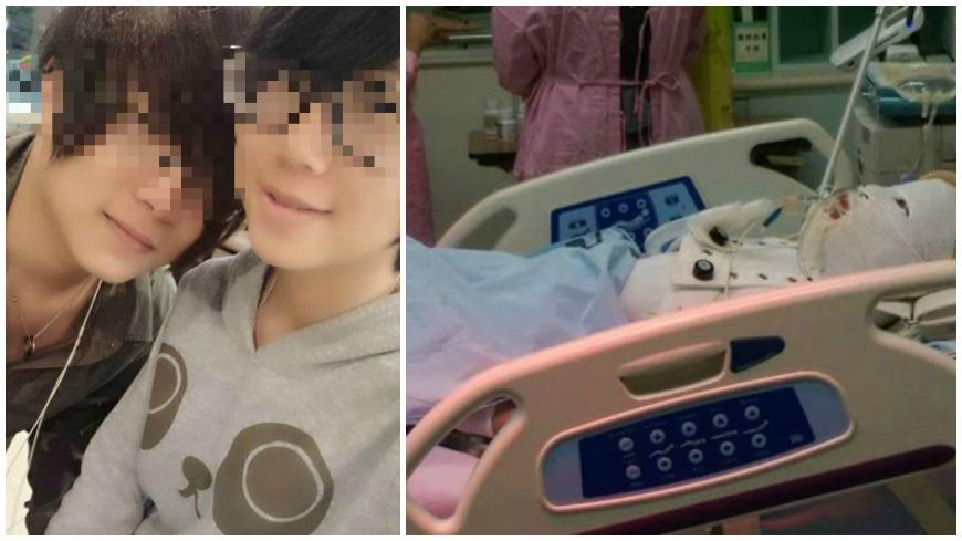 翻攝自/爆料公社 恐怖前男友「淋去光水點火」還冷笑 17歲女遭活燒!