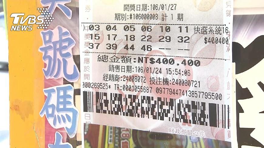 圖/TVBS資料畫面 快訊/大樂透頭獎南投開出 一注獨得2.1億元
