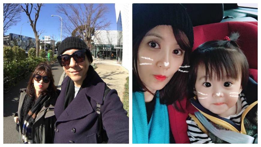 圖/賈靜雯臉書 賈靜雯、修杰楷同遊東京 自嘲是「沒出息的父母」