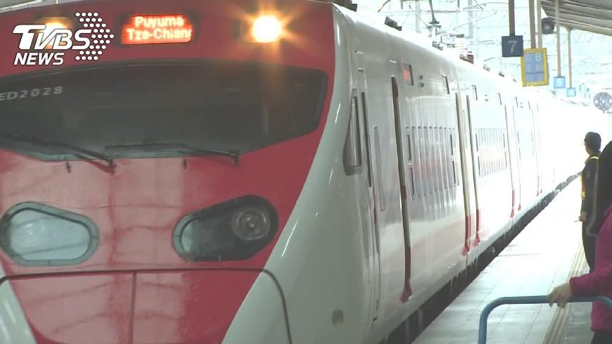 圖/TVBS資料畫面 苗栗車站傳跳軌!女遭普悠瑪撞飛亡 700旅客遭延誤