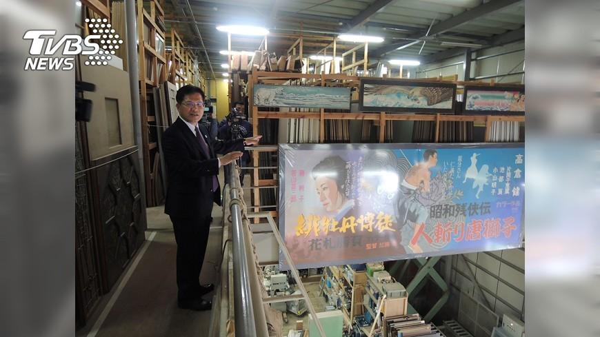 圖/中央社 打造中台灣影視基地 林佳龍參訪東映