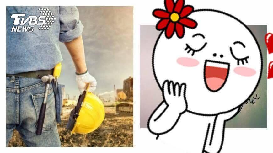 圖/示意圖TVBS(左)、翻攝自《Dcard》(右) 字太美錯了嗎?工地男兒被兄弟女友誤認「小三」