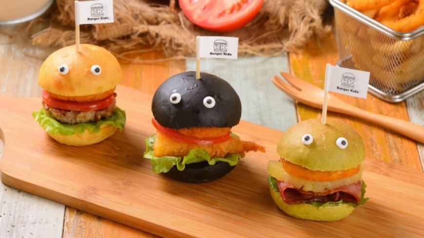 可愛!迷你漢堡好童趣 逢甲商圈新美食出爐
