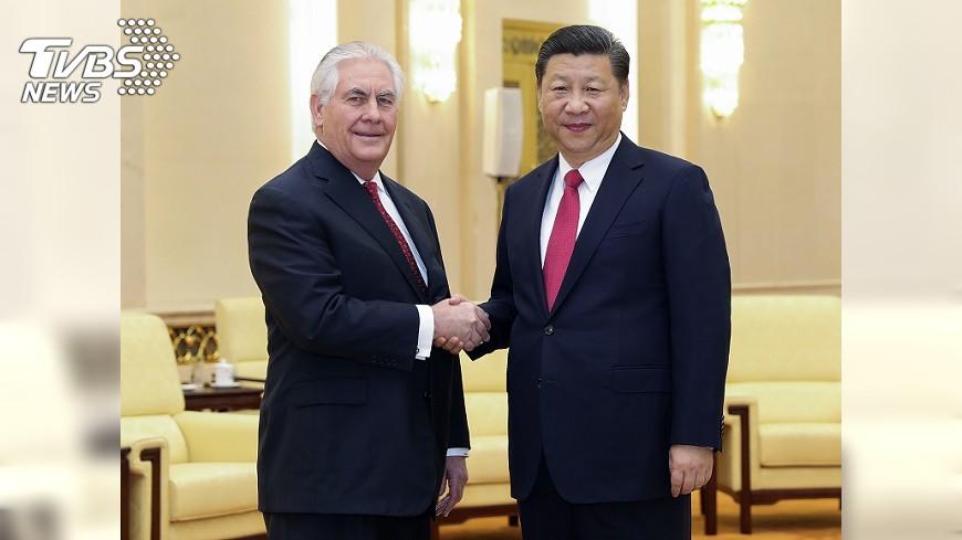 圖/達志影像美聯社 提勒森北京行 未著墨一中與台灣議題