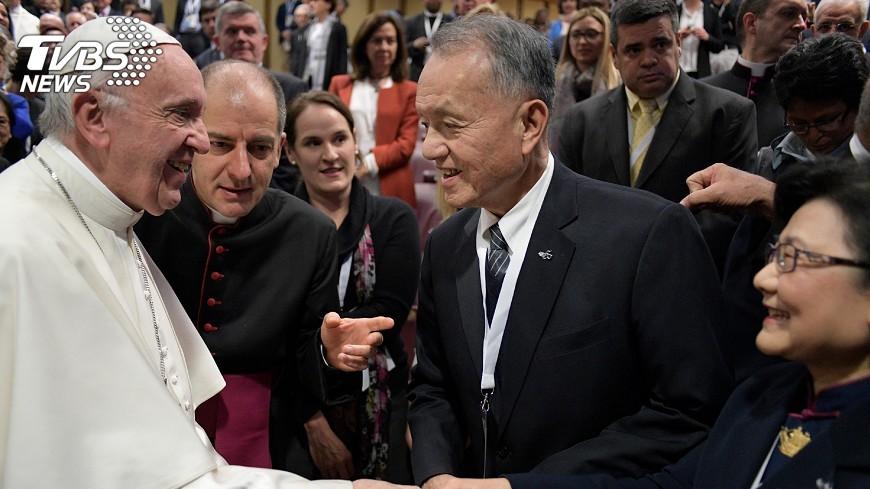 圖/中央社 梵蒂岡國際會議 慈濟代表獲教宗接見