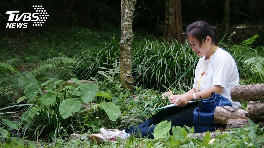 圖/中央社 奧萬大生態繪畫教學 用畫筆品味山林