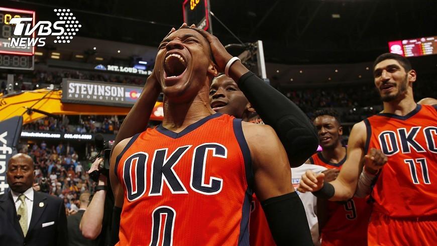 圖/達志影像美聯社 破NBA紀錄 魏斯布魯克42次大三元