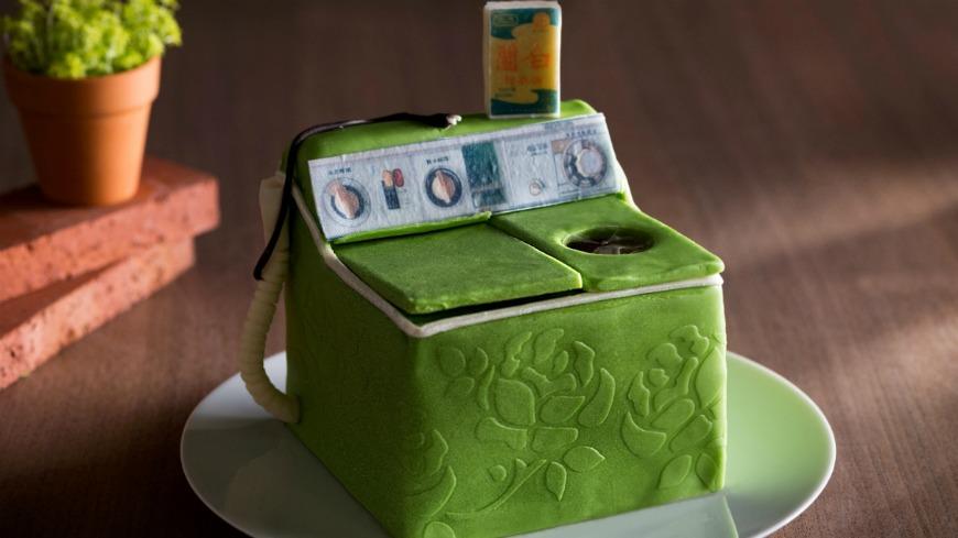 誠品行旅提供 可愛!母親節蛋糕拼創意 復刻50年代洗衣機