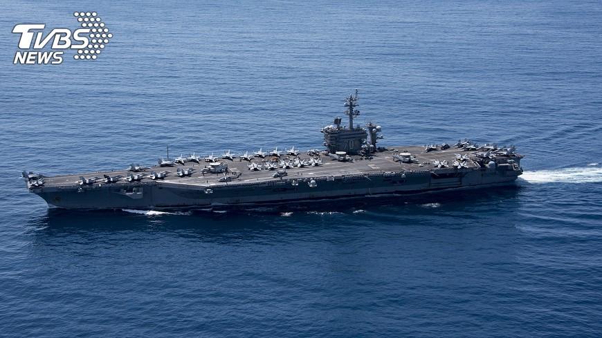 圖/中央社 韓媒:卡爾文森航艦將進入朝鮮半島海域