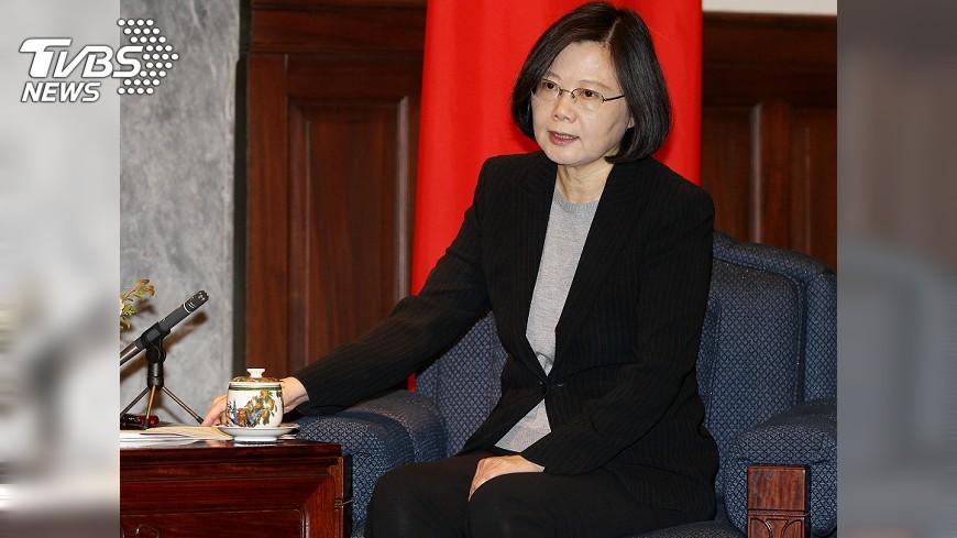 圖/中央社 蔡總統:推動國防事務革新 台灣站穩腳步
