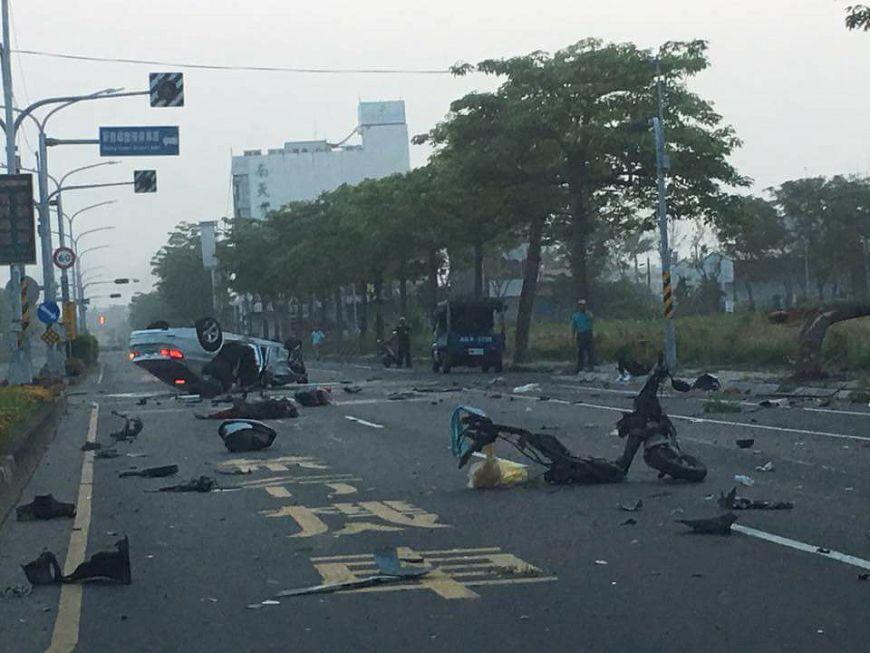 圖/爆料公社 酒駕肇禍!男駕BMW撞死待轉區內老婦
