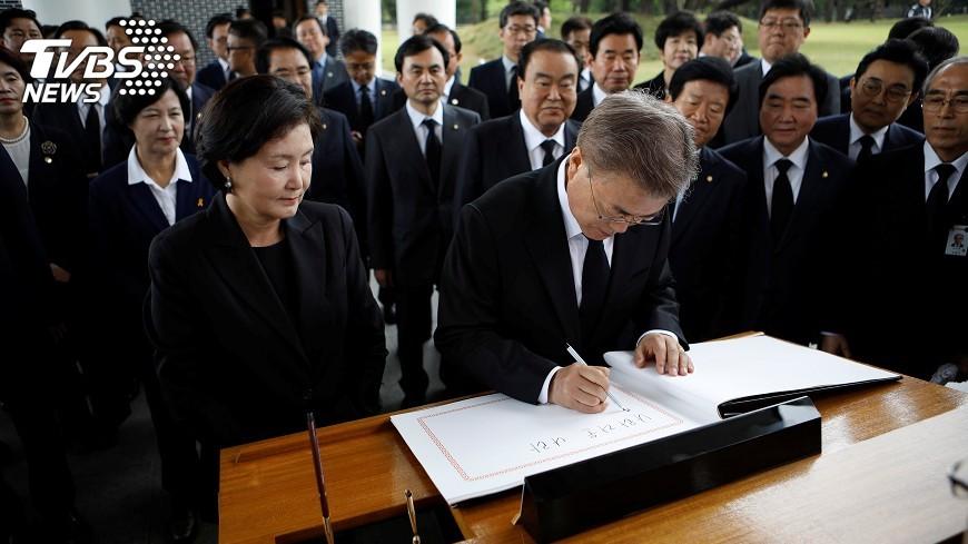 圖/達志影像路透社 文在寅將在國會宣誓就任韓國總統
