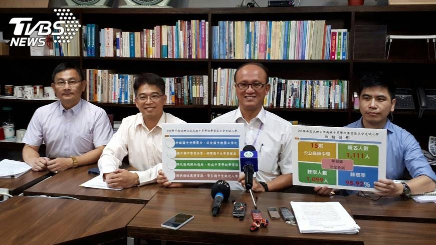 圖/中央社 15高中職首試辦完全免試 錄取率98.92%