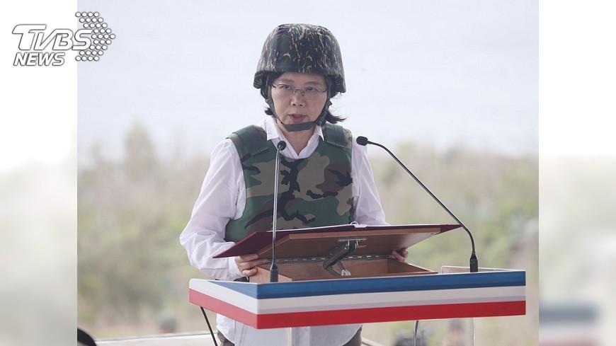 圖/中央社 蔡總統:國防自主向世界展保衛國土決心