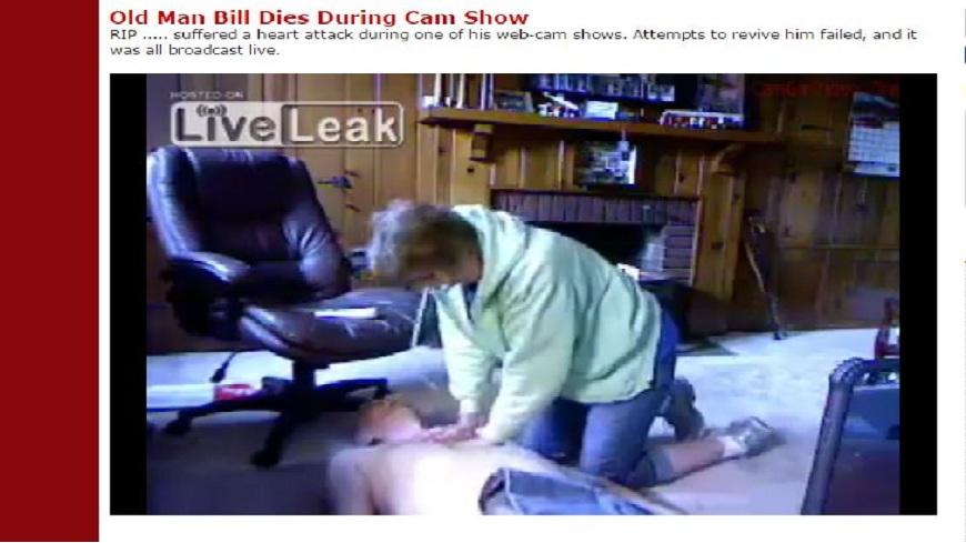 美國69歲的老翁在同志網站直播「打手槍」,但疑似興奮過頭心臟病發身亡。(圖/翻攝自LiveLeak) 同志網站直播「手淫」 69歲翁爽過頭心臟病發猝死
