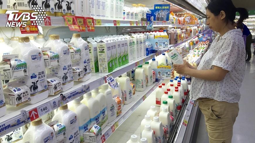 圖/中央社 民生物價飆27月新高 鮮奶漲幅創逾5年高