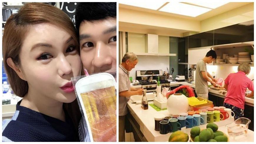 圖/擷取自利菁臉書 公婆、老公超寵! 利菁甜洩:我是最幸福人妻