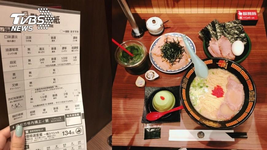 一蘭拉麵提供選單讓顧客自由搭配喜歡的口味。圖/TVBS
