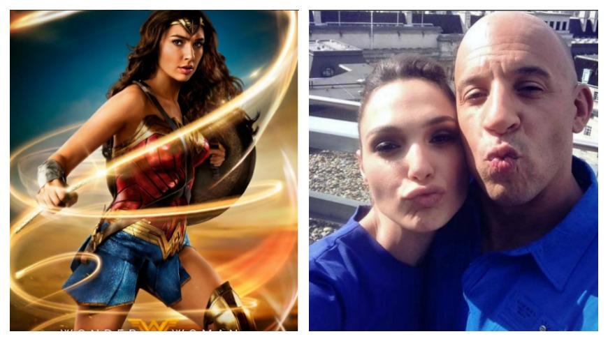 圖/擷取自馮迪索、蓋兒加朵Instagram 《女超人》票房破億 《玩命》團隊讚蓋兒加朵:為你驕傲