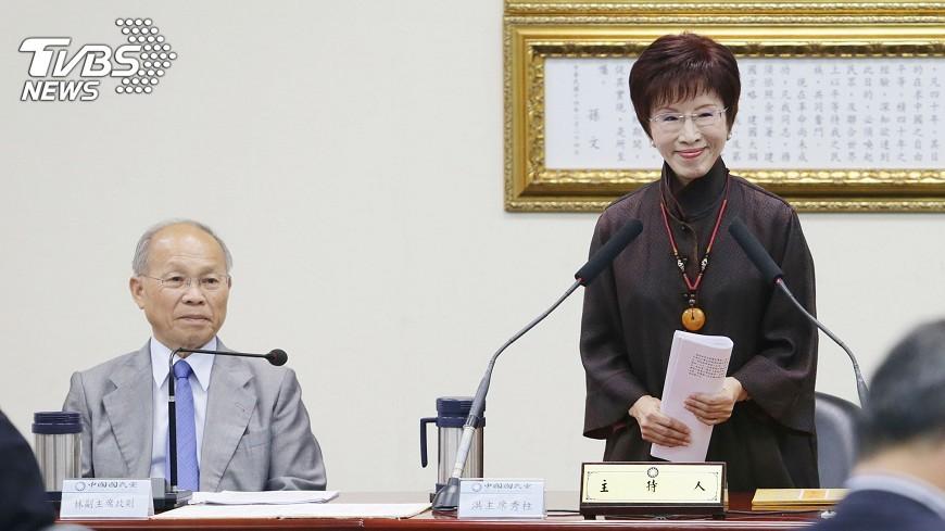 圖/中央社 為安大家的心 洪秀柱6月底辭黨主席