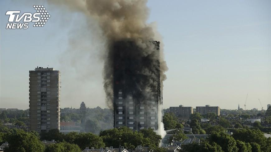 圖/達志影像美聯社 倫敦公寓大樓惡火 重點快速掌握