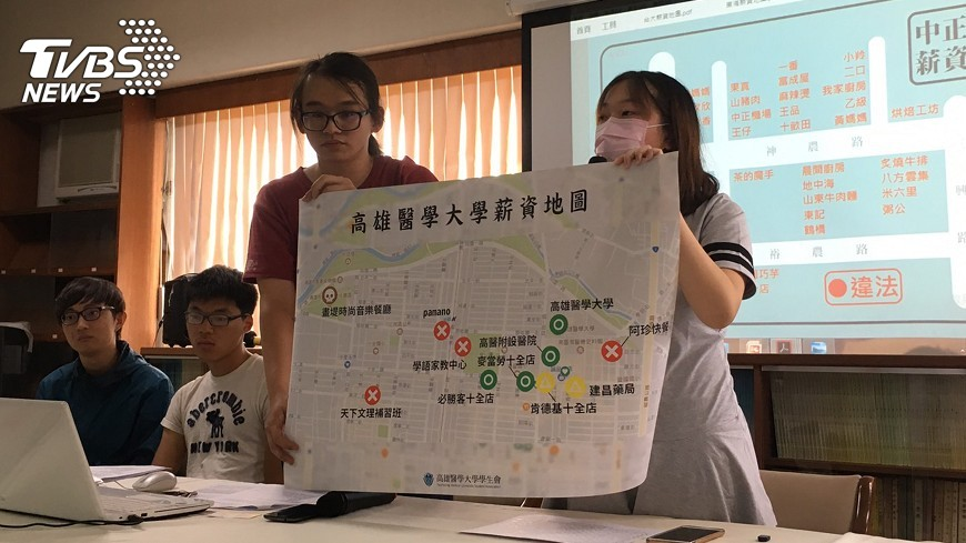 圖/中央社 10大學周邊打工店家 8成違反勞動法令