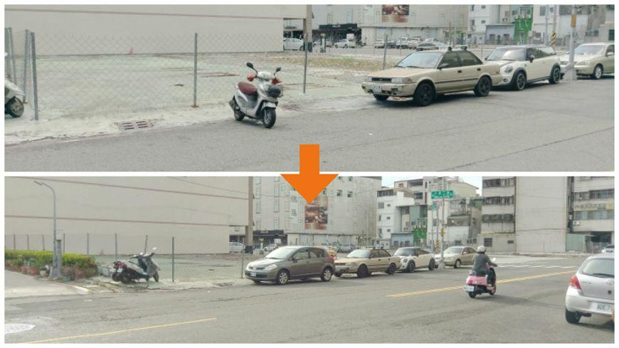 車主現身將機車移開,停入自己的小客車。圖/取自Mobile01