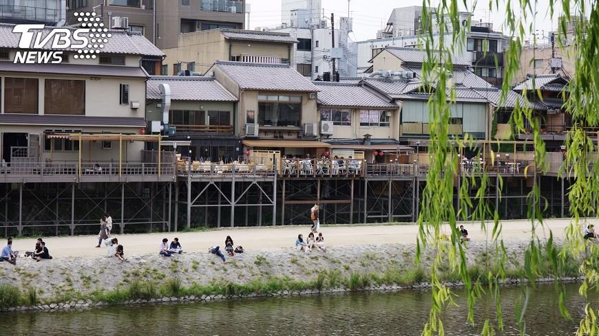 圖/中央社 日本京都設禁丟垃圾看板 隔天堆滿垃圾