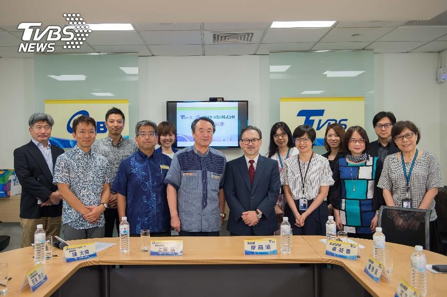 圖/TVBS TVBS與日本琉球朝日放送株式会社簽署新聞合作