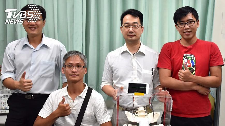 圖/中央社 脊髓損傷喪失排尿感 研發偵測器適時提醒