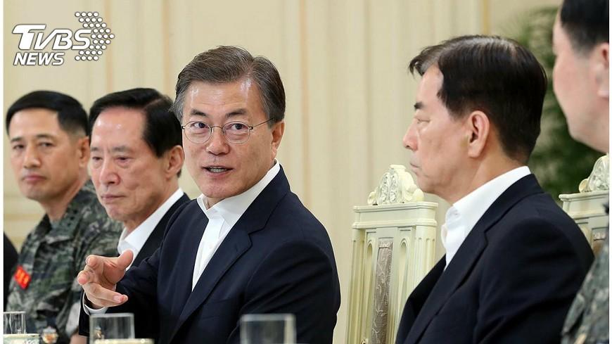 圖/中央社 文在寅:與北韓對話需具有國防優勢