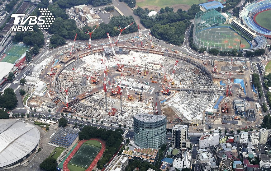 圖/達志影像美聯社 高溫天氣場館施工落後 東京奧運問題多