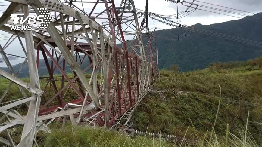圖/TVBS 台電:沿海鐵塔鏽蝕 盼年底汰換完工